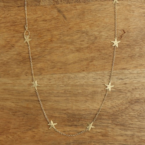Starfish Mini Necklace Gold