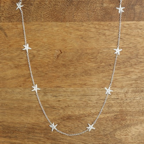 Starfish Mini Necklace Silver