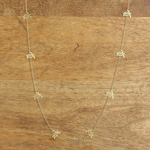 Sea Turtle Mini Necklace Gold