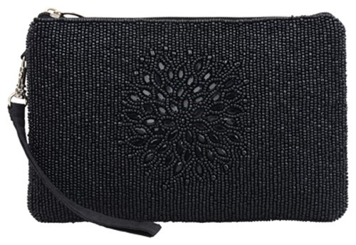 Night Bloom Black Clutch
