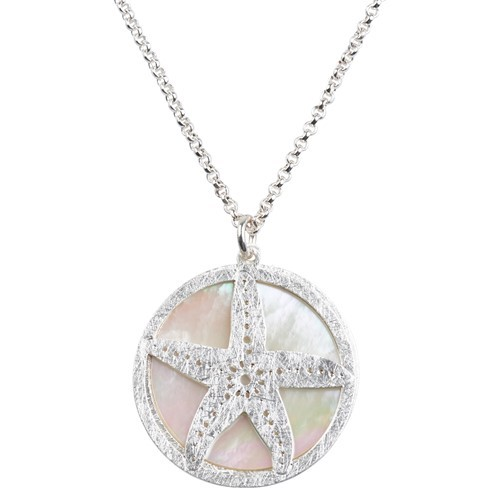 Starfish MOP Necklace Silver