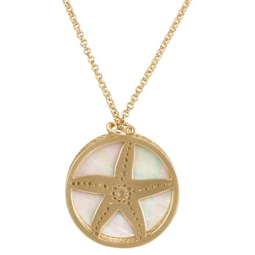 Starfish MOP Necklace Gold