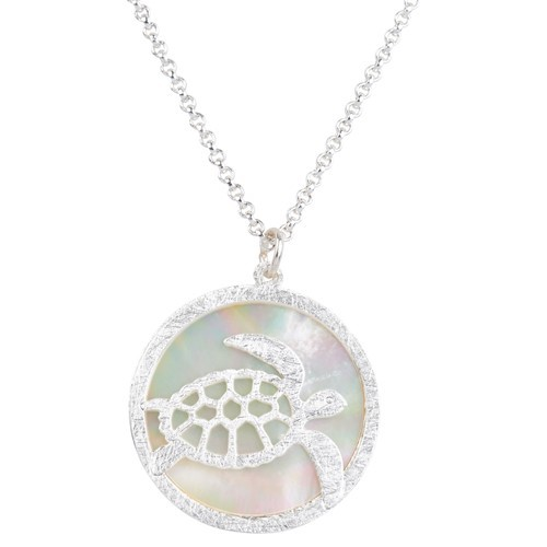 Turtle MOP Necklace Silver