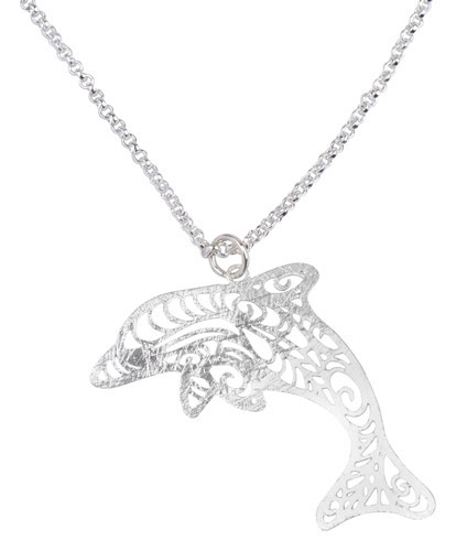 Dolphin Necklace Silver