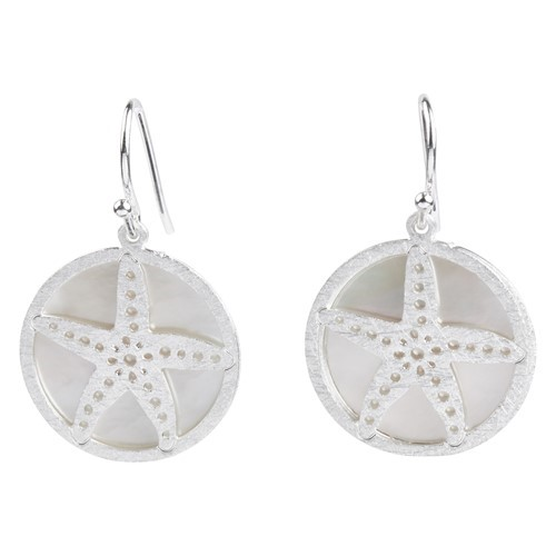 Starfish MOP Earrings Silver