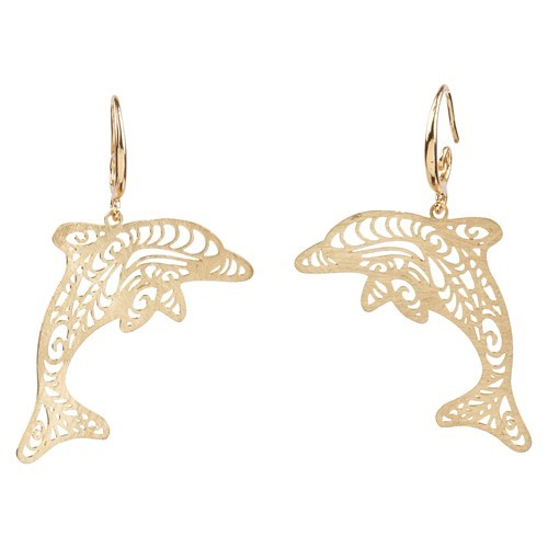 Dolphin Earrings Gold