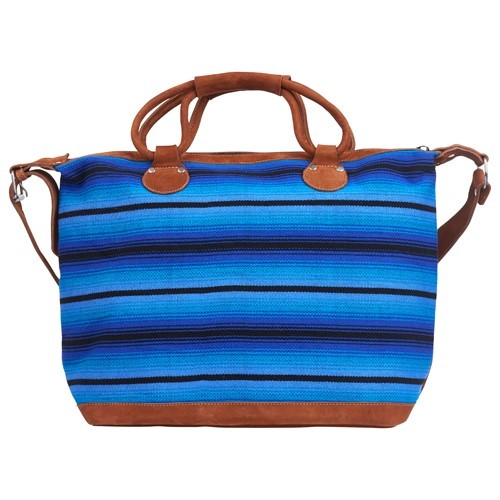 Blue Striped Weekender
