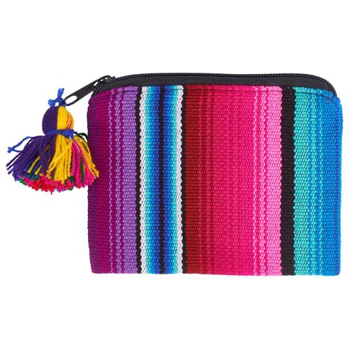 Multi Striped Coin Pouch