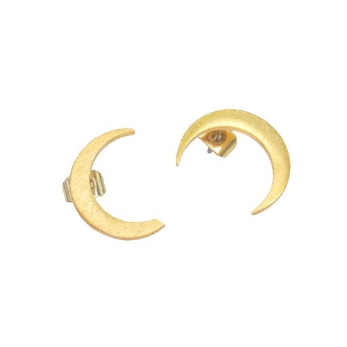 Mini Crescent Moon Earrings