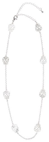 Sugar Skull Mini Necklace Silver