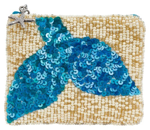 Coin Purse Mermaid Tail Azure