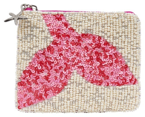 Coin Purse Mermaid Tail Fuchsia