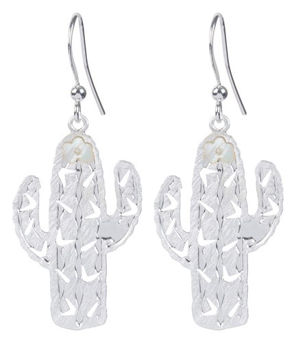 Cactus Earring Silver