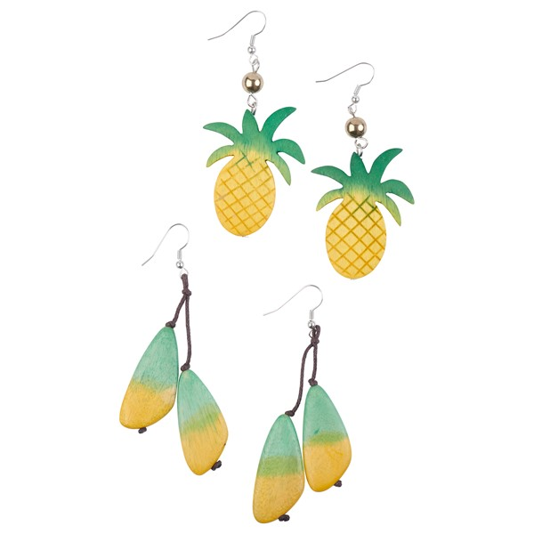 Wooden Pineapple Earring Assortment