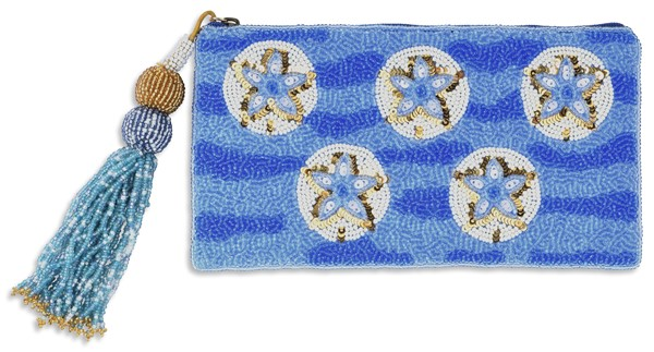Club Bag Tassel Pouch Sand Dollar